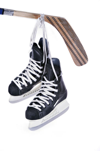 Hockey skates hanging drawing